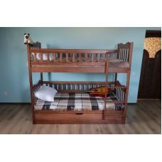 ліжко двоярусне Рукавичка  з підйомним механізмом